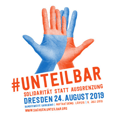 Logo der Unteilbar Demo am 24 August 2019 in Dresden